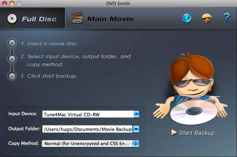 DVDSmith Movie Backup for Mac で簡単にDVDコピーを作る